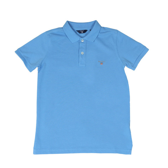 Gant Boys Blue Boys Original Pique Polo Shirt main image