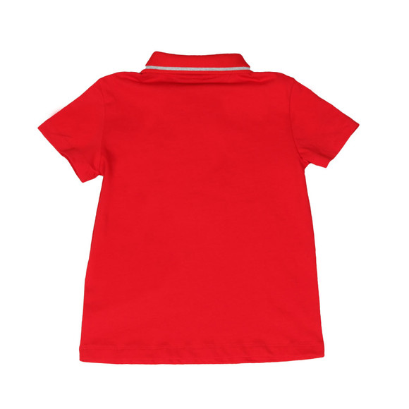 EA7 Emporio Armani Boys Red Tipped Polo Shirt main image