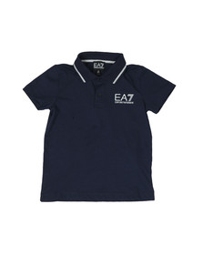 EA7 Emporio Armani Boys Blue Tipped Polo Shirt