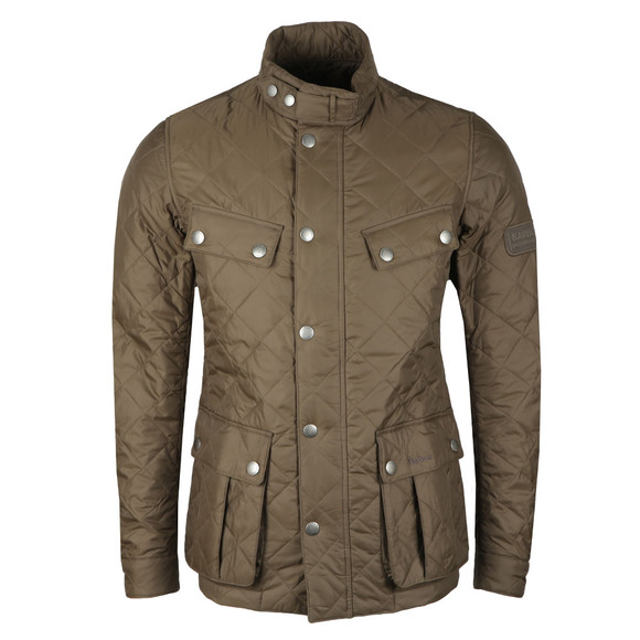 Barbour International Mens Green Ariel Quilted Jacket main image