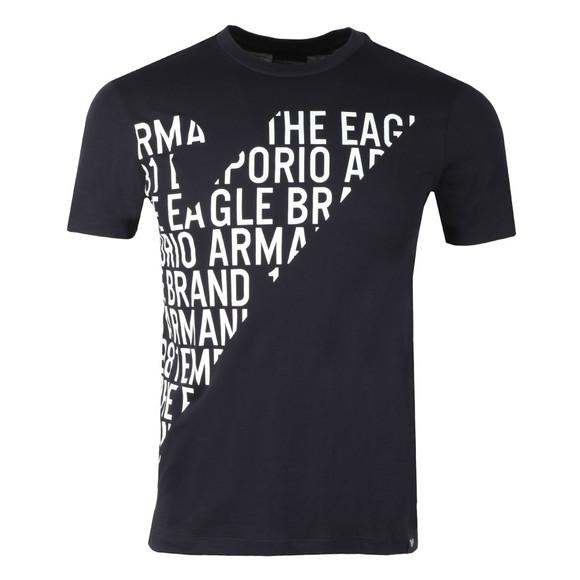 Emporio Armani Mens Blue 3Z1T72 Logo T Shirt