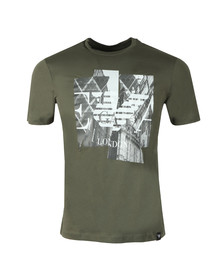 Emporio Armani Mens Green London Graphic T-Shirt