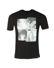 Emporio Armani Mens Black Milano Graphic T-Shirt