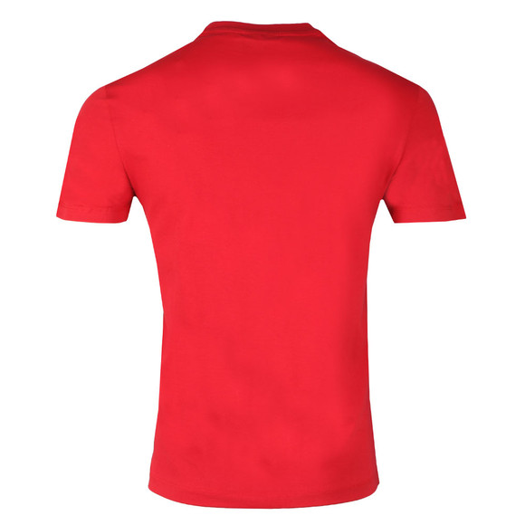 Emporio Armani Mens Red Large Square Eagle T-Shirt main image