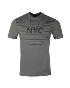 Emporio Armani Mens Grey 3Z1T76 Logo T Shirt