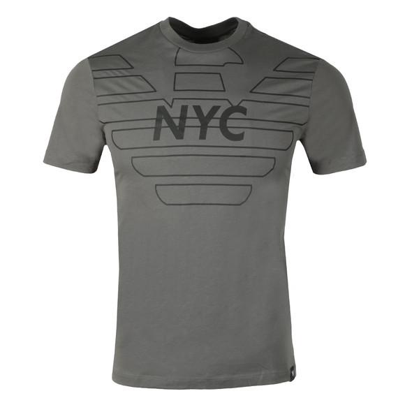 Emporio Armani Mens Grey 3Z1T76 Logo T Shirt main image