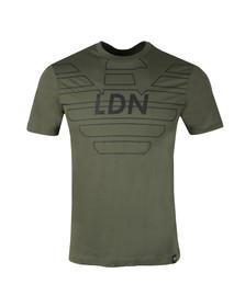 Emporio Armani Mens Green 3Z1T76 Logo T Shirt