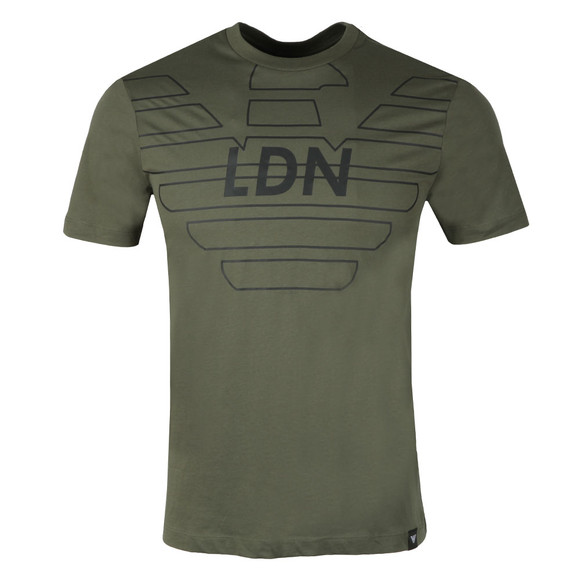 Emporio Armani Mens Green 3Z1T76 Logo T Shirt main image