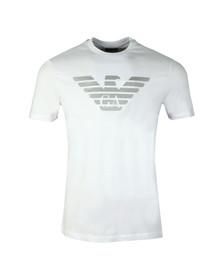 Emporio Armani Mens White Reverse Logo T-Shirt