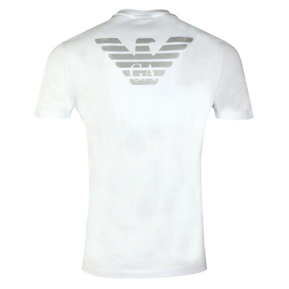 Emporio Armani Mens White Reverse Logo T-Shirt main image