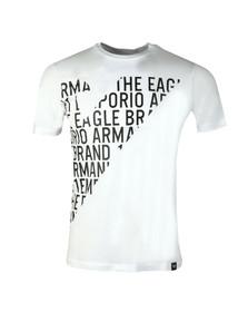 Emporio Armani Mens White 3Z1T72 Logo T Shirt
