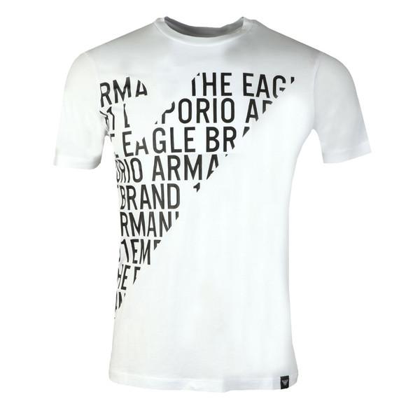 Emporio Armani Mens White 3Z1T72 Logo T Shirt main image