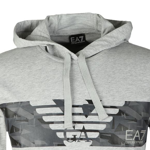 EA7 Emporio Armani Mens Grey Overhead Hoody main image