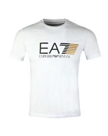 EA7 Emporio Armani Mens White Visibility Large Logo T-Shirt