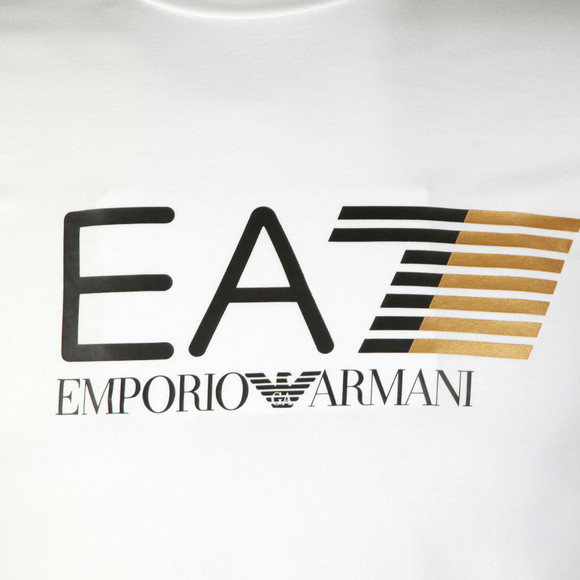 EA7 Emporio Armani Mens White Visibility Large Logo T-Shirt main image
