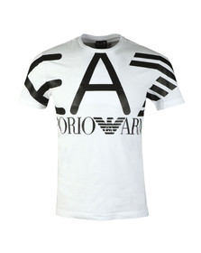 EA7 Emporio Armani Mens White Cotton Jersey T-Shirt