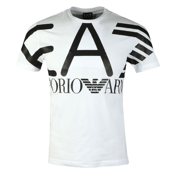 EA7 Emporio Armani Mens White Cotton Jersey T-Shirt main image