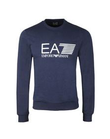 EA7 Emporio Armani Mens Blue Marl 7 Lines Crew Sweat