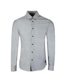 Calvin Klein Jeans Mens Blue L/S Wibens Shirt