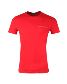 Calvin Klein Jeans Mens Red S/S Typoko Tee
