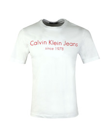 Calvin Klein Mens White S/S Treavik Tee