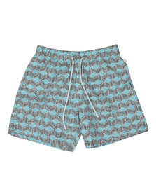 Vilebrequin Mens Blue Fishes Cube Swim Short