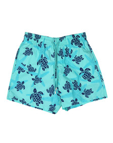 Vilebrequin Mens Blue Starlette & Turtle Swim Short