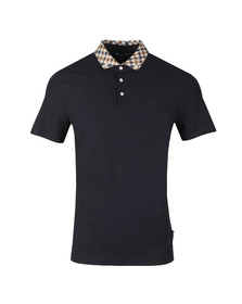 Aquascutum Mens Blue Coniston Club Check Collar Polo Shirt