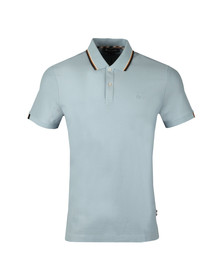 Aquascutum Mens Blue Bosley Vicuna Stripe Collar Polo Shirt