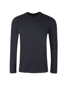 Aquascutum Mens Blue Southport Club Check Shoulder LS Tee