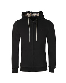 Aquascutum Mens Black Arlo Sweat Hoodie