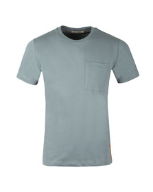 Nudie Jeans Mens Blue Kurt Worker Tee