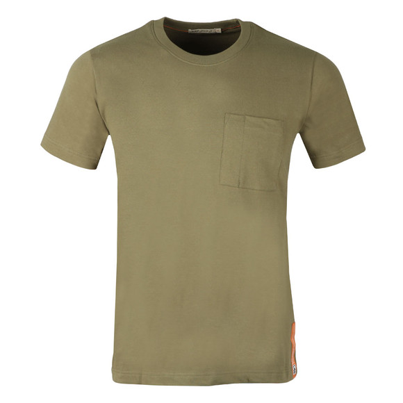 Nudie Jeans Mens Green Kurt Worker Tee main image