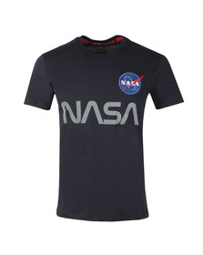 Alpha Industries Mens Blue NASA Reflective T Shirt