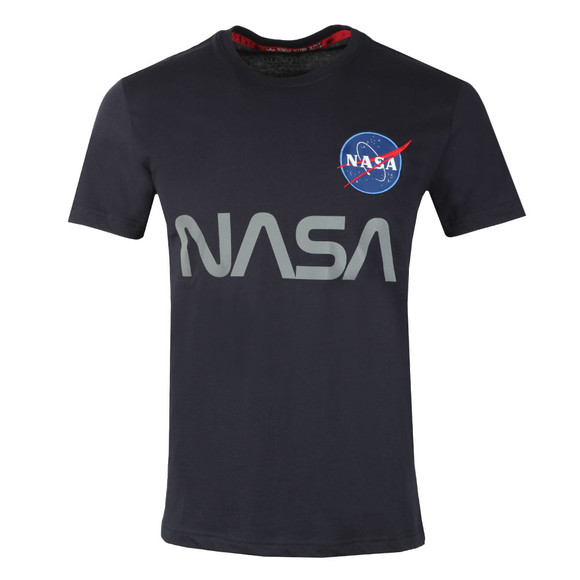 Alpha Industries Mens Blue NASA Reflective T Shirt main image