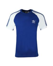 Adidas Originals Mens Blue 3 Stripes Tee
