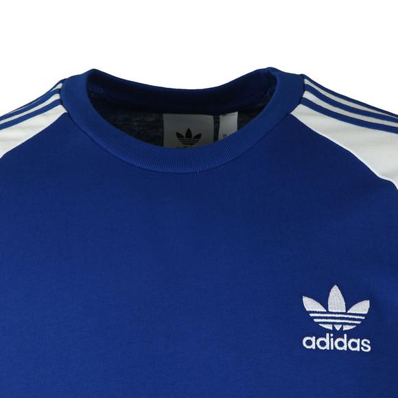 Adidas Originals Mens Blue 3 Stripes Tee main image