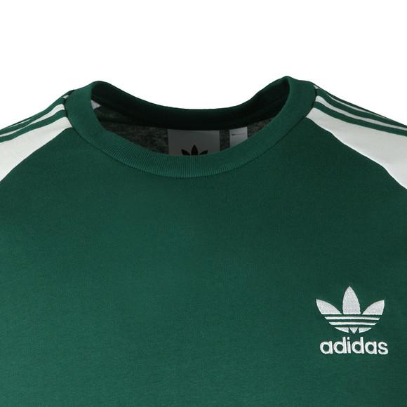 adidas Originals Mens Green 3 Stripes Tee main image