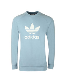 Adidas Originals Mens Blue Trefoil Crew Sweat
