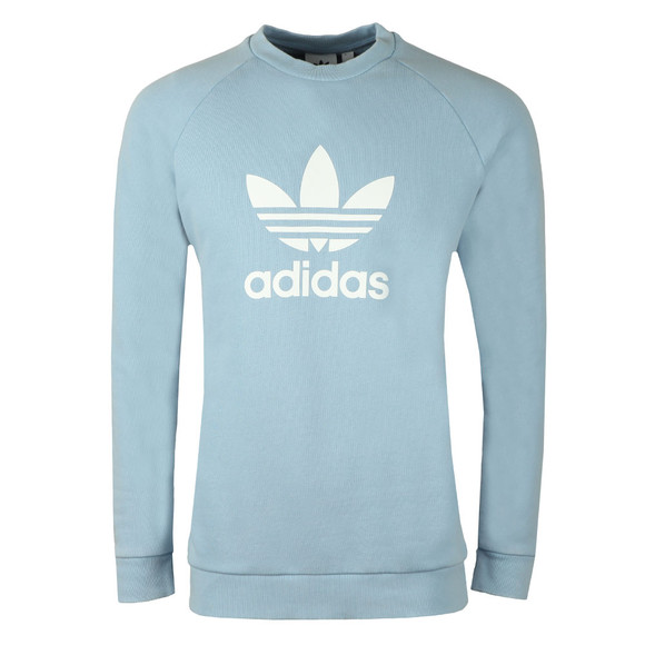 Adidas Originals Mens Blue Trefoil Crew Sweat main image