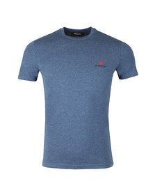 Dsquared2 Mens Blue Leaf Logo T Shirt