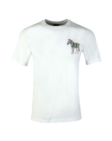 PS Paul Smith Mens White Large Print Zebra Tee