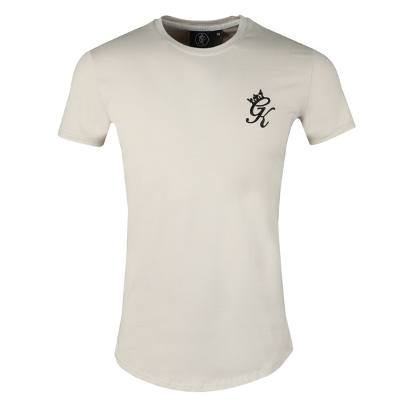 Gym King Mens Beige Core Long Line Tee main image