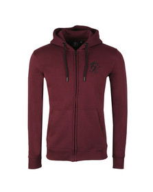 Gym King Mens Red Full Zip Hooded Sweat