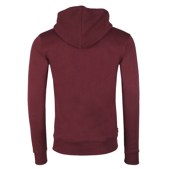Gym king Mens Red Full Zip Hooded Sweat main image