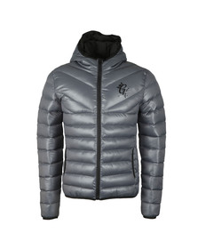 Gym King Mens Grey Reign Hooded Jacket