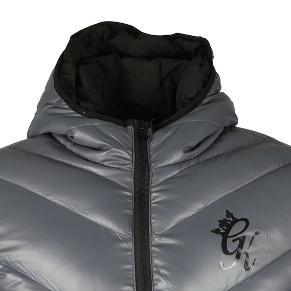 Gym King Mens Grey Reign Hooded Jacket main image