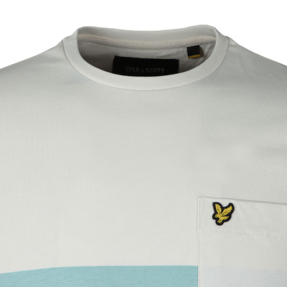 Lyle and Scott Mens Off-White S/S Wide Stripe Tee main image