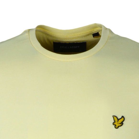 Lyle and Scott Mens Yellow Basic Tee main image