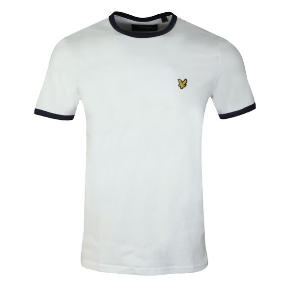 Lyle and Scott Mens White Ringer T-Shirt main image